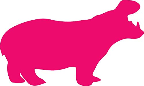 USC DECALS Hungry Hippo (Pink) (Set of 2) Premium Waterproof Vinyl Decal Stickers for Laptop Phone Accessory Helmet Car Window Bumper Mug Tuber Cup Door Wall Decoration