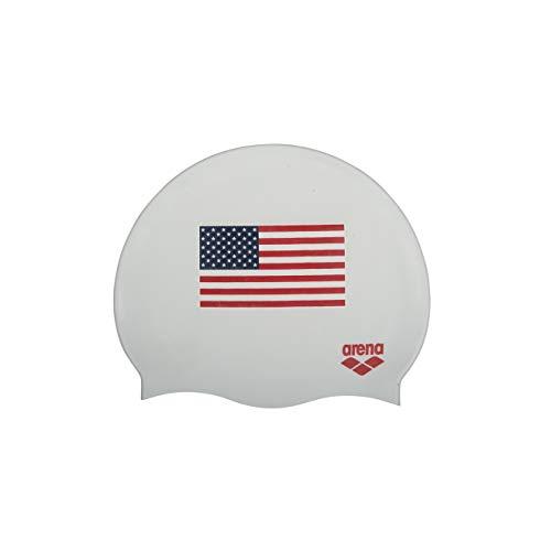 ARENA Classic Silikon Unisex Badekappe für Damen und Herren, USA Weiß, Einheitsgröße