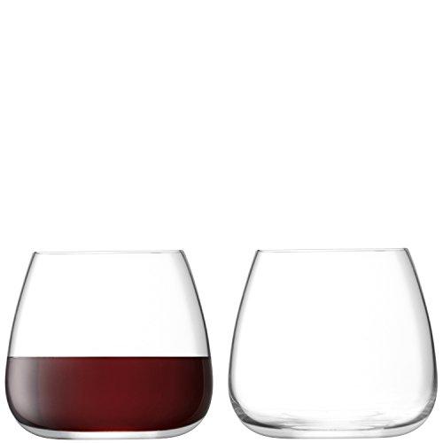 LSA International wijnglazen zonder steel cultuur wijnglas 385 ml transparant X 2, 9,4 x 9,4 x 8,5 cm