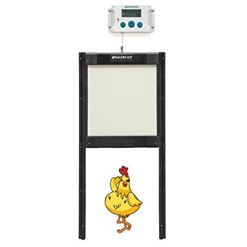 Automatic Chicken Coop Door Opener Kit - Self-Locking Door, Timer and Light Sensor