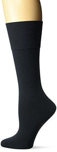 Gold Toe Women's Mild Compression Jersey Knee Highs, 1 Pair, Navy, Shoe Size: 6-9