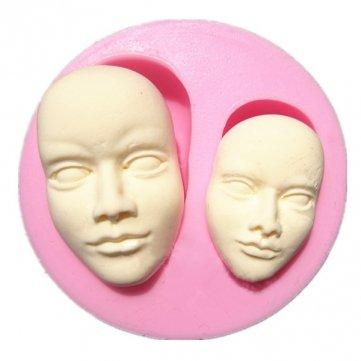 Ialwiyo Human Face Silicone Mold Chocolate Polymer Clay Mould