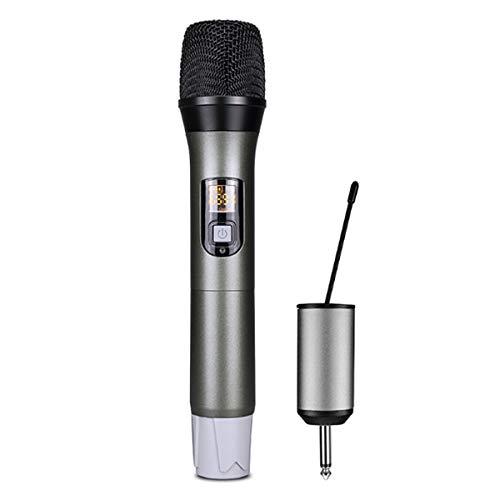 PQZATX Professionelles Abstimmbares UHF Mikrofon USB Mikrofon Sound Karte U-Segment Drahtloses Mikrofon für TV Computer Audio