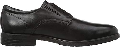 Geox U Dublin A, Zapatos de Cordones Derby para Hombre, Negro (BLACKC9999), 47 EU