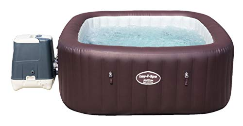 Bestway Lay-Z-SPA Maldives HydroJet Pro - Jacuzzi autohinchable Rectangular, marrón, 201 x 201 x 80 cm