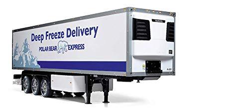TAMIYA 56319 1:14 3-Achs-Kühlauflieger, Bausatz zum Zusammenbauen, RC Truck, fernsteuerbarer, Lastwagen, LKW,...