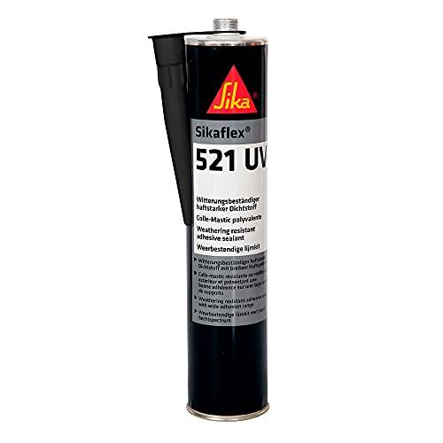 Sikaflex 521 UV, Sigillante Resistente agli Agenti Privo di isocianati, Adatto per Interno ed Esterno, indurisce con l'esposizione all'umidità atmosferica, 300 ml, Nero