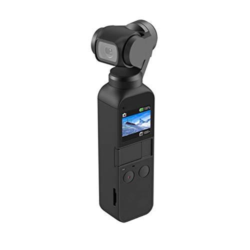 Yzibei Handheld Gimbal Stabilizzatore Telecamera Tascabile PTZ Telecamera PTZ Portatile Stabilizzatore Compatto Stabilizzatore PTZ Adatto per Riprese Vlog (Colore : Nero, Dimensione : 3x4x12cm)