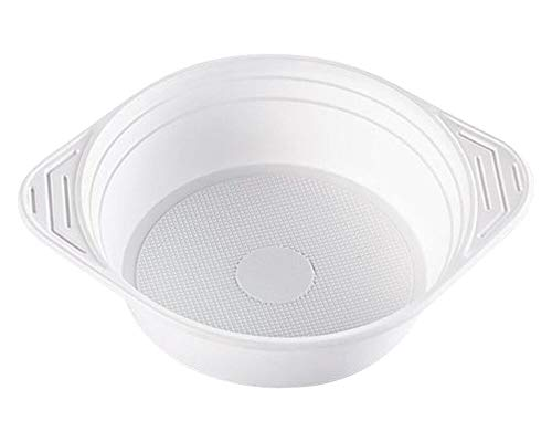 1-PACK Suppenterrine Suppenteller 500ml, PP, 8 gr, Mikrowellentauglich, weiß, 200 Stück