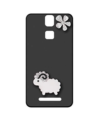 Sunrive Kompatibel mit Elephone P8000 Hülle Silikon,Glitzer Diamant Strass Handyhülle matt Schutzhülle Etui 3D Hülle Backcover (Schafe) MEHRWEG+Gratis Universal Eingabestift