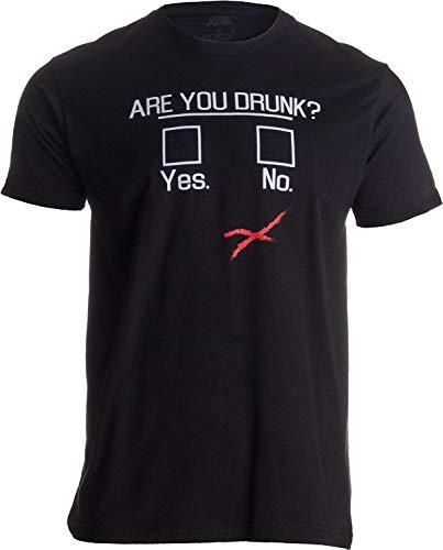 Sie betrunken? | Lustiges trinkendes Bier, Bar-Party-Spaß-Gag-Geschenk-Unisext-Shirt