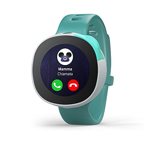 Vodafone Neo smartwatch per bambini disegnato in collaborazione con Disney con Chiamate, Chat, Fotocamera, GPS, tracker di attività (Richiesta sottoscrizione di un servizio di connettività)Verde menta