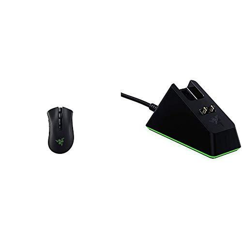Razer Bundle composé de DeathAdder V2 Pro (souris professionnelle de jeu sans fil avec mise au point 20K DPI + capteur) et Mouse Dock Chroma (station de charge avec éclairage RVB)