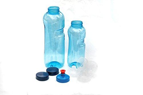 Trinkflasche aus Tritan 2 x 0,75 Liter ohne Weichmacher BPA Bisphenol A frei