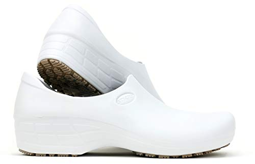 SSW-BCA Women's Waterproof Non-Slip Shoes (8, White)