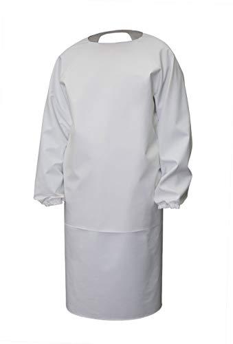 3Kamido® Profi Gummischürze mit Ärmeln aus PVC Metzgerschürze Fleischerschürze, Schürze für Veterinäre, Waschschürze, Wasserundurchlässig