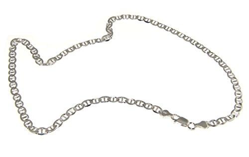 nalbori argento 925 : Collana o Bracciale uomo catena maglia marina 5 mm massiccia chiara (collana 50 cm)