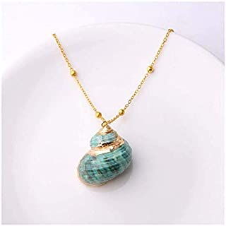 Boho Conch Shell Necklace Sea Beach Shell Pendant Necklace For Women Jewelry Bohemian