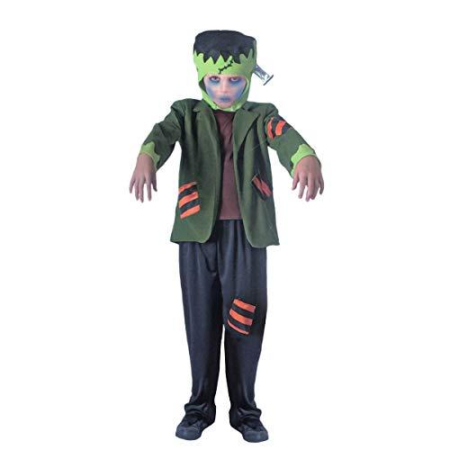 Carnavalife, Disfraz Completo de Dr. Frankenstein de Miedo para Fiesta de Halloween. Fiesta de Disfraces de Miedo, Fiesta Temática, Navidad o Carnaval. Para Niño. Talla 4-6 años