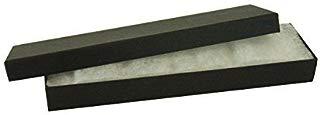 "JPI DISPLAY #82 Cotton Filled Boxes, 8"" L x 2"" W, Matte Black, 100 Count"