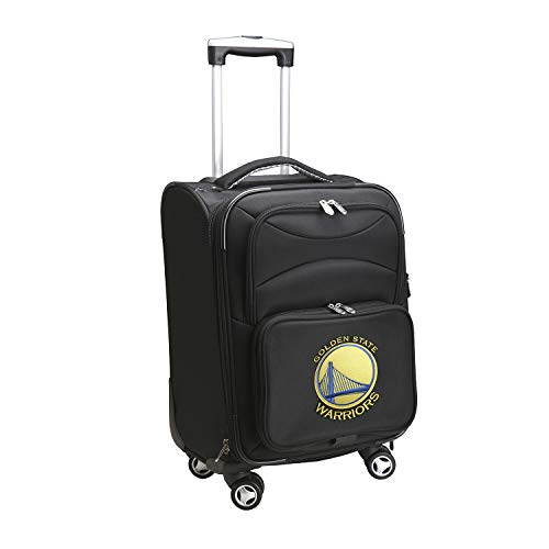 Denco NBA Golden State Warriors Domestic Carry-On Spinner, 20-Inch, Black