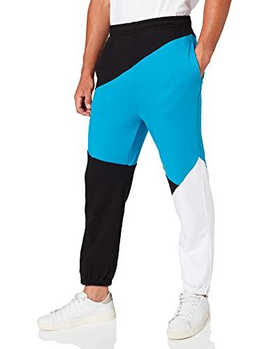 Urban Classics Jogginghose Zig Zag Sweatpants Pantalons, Noir, 38W x 33L Homme