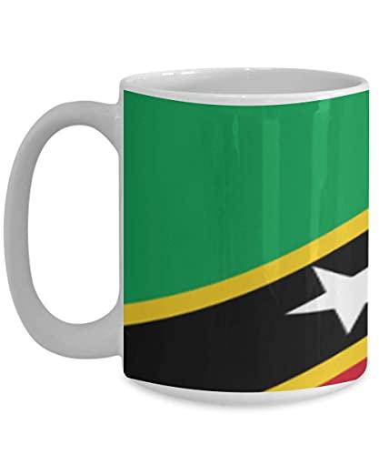 N\A Saint Kitts & Nevis Flagge weiße Kaffeetasse Teetasse Native Heritage