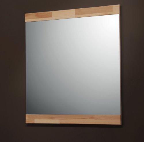 Möbeldesign Team 2000 Garderobenspiegel od. Wandspiegel 80x80cm, mit Rahmen in Kernbuche massiv 7154-1