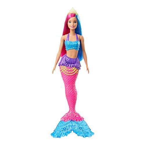 Barbie- Dreamtopia Bambola Sirena con Capelli Rosa e Blu Giocattolo per Bambini 3+ Anni, GJK08