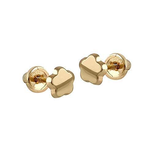 Pendientes Oro Amarillo 18k modelo Aretes de Bebé Medida: 4mm.