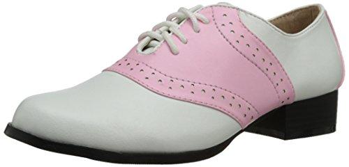 Ellie Shoes Men's 105-saddle, Pink/White, 7