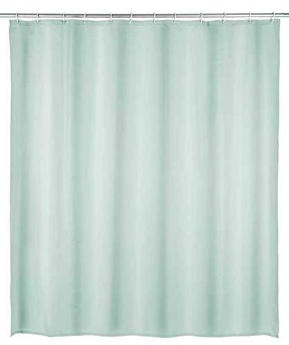 WENKO Duschvorhang Uni Hellgrün - wasserdicht, leicht zu pflegen, Polyethylen-Vinylacetat, 200 x 180 cm, Grün
