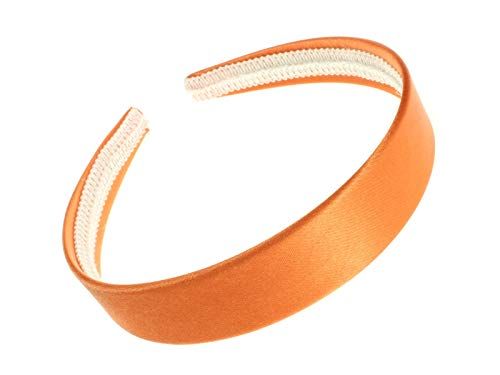 Orange Wide Satin Alice Band IN9012 by Alice Bands