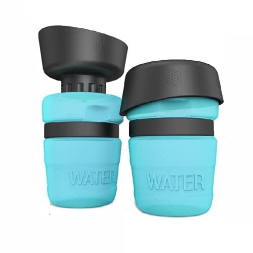 SALVADOG DURAN - Botella de Agua para Perros Portatil - Bebedero de Viaje para Mascotas – 500ml – Especial Paseos al Aire Libre con Cuenco Plegable – Libre de BPA