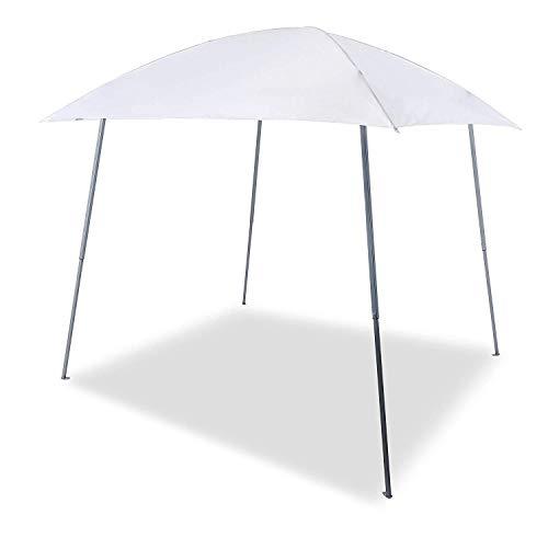Gutgojo Pavillon 2.4×2.4m Faltpavillon Faltzelt Sonnenschutz 100% Wasserdicht Gartenzelt für Camping Urlaub (3×3m, Weiß)