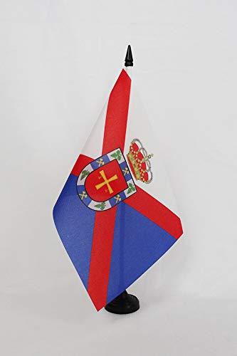 AZ FLAG Bandera de Mesa de EL BIERZO 21x14cm - BANDERINA de DESPACHO DE EL BIERZO 14 x 21 cm