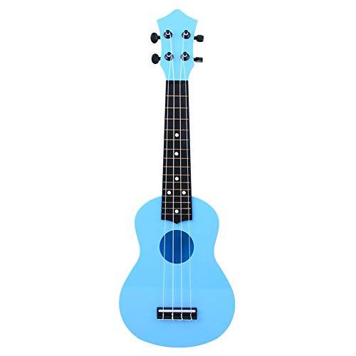 Dilwe 4 Cuerdas de 21 Pulgadas Ukelele, Plástico Principiante Ukelele Guitarra Sonido sin Distorsión Instrumento Musical Regalo para Niños