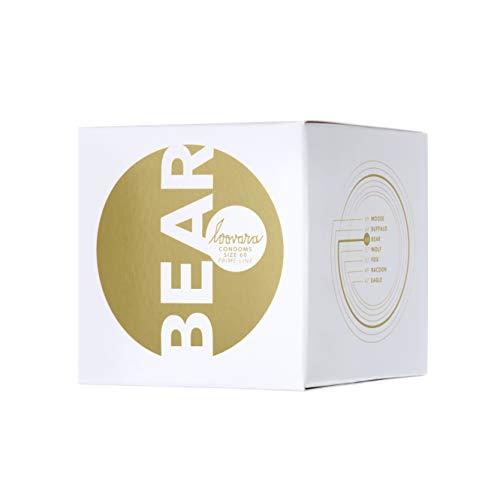 Loovara 12 Kondome in individuellen Größen - Kondomgröße 60 - Size Bear - Latexfreie Kondome dünn aus Fair Rubber - Für mehr Fun & Feeling beim Sex I Vegane Präservative im 12er Pack
