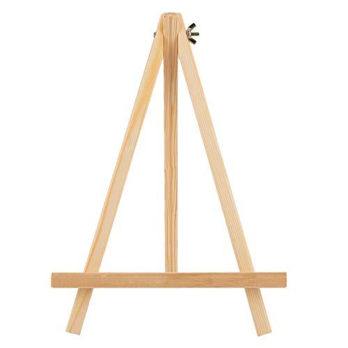 Menolana moldura dobrável de madeira para mesa com cavalete de estúdio ajustável tripé de madeira tripé suporte para exibição mesa portátil pintura de mesa quadro suporte de arte de tela - 14 x 20 cm