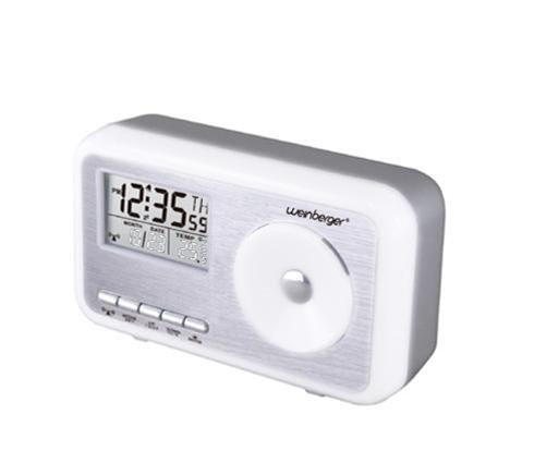 Mebus Sunrise Funkuhr mit Thermometer, Wecker, Digitaluhr, Funkwecker