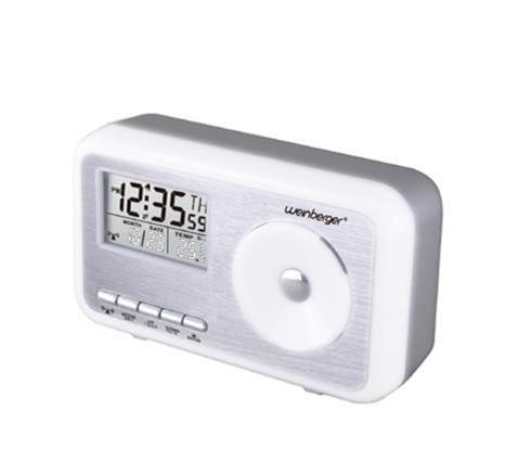 Mebus Sunrise Funkuhr mit Thermometer, Wecker, Digitaluhr, Funkwecker