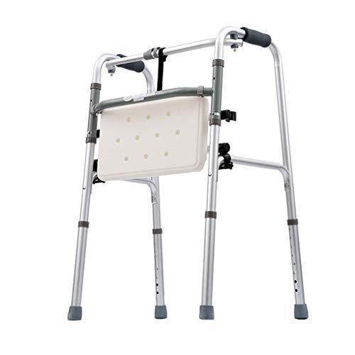 LHNLY-Andadores Caminadores Plegables para Personas Mayores Caminantes para el hogar y Exteriores Caminantes muletas para discapacitados, Porta Bastones Andador Ajustable en Altura