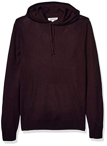 Goodthreads Merino Wool Hoodie Sweater Pullover, burgunderfarben, M