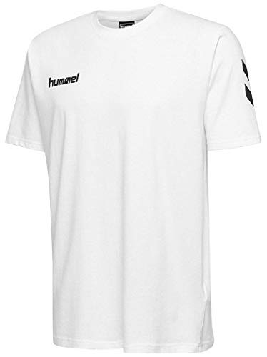hummel Hmlgo - Camiseta Infantil de algodón, Unisex niños, Camisetas, 203567-9001, Blanco,...