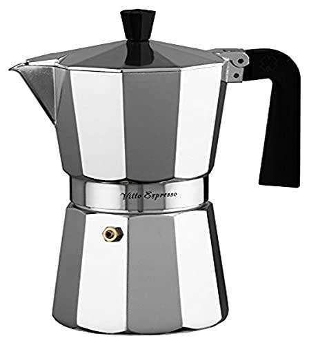 Ilsa–Aluminium Vitto Expresso Kaffeemaschine, Silber 12 Tassen Zentimeter Silber