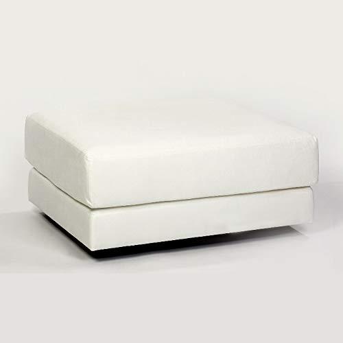 Lambert Metropolitan Hocker Weißpolster inkl. 1 Sitzkissen, Füße Buchenholz, schwarz gebeizt, 100 x 80 cm, Sitzhöhe 40 cm 58105