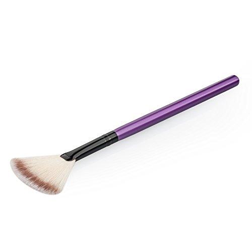 DaoRier Pinceau de Maquillage Cosmétiques Mis Pinceau Poudre Fondation Le Long de la Tige Secteur,1 Pcs (Pourpre)