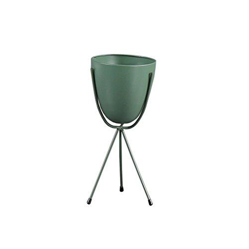 Support de fleur de fer/nordique simple/plancher/métal/usine d'araignée/hauteur/fleur plateau/quatre couleurs en option (Couleur : Green, taille : 32cm)
