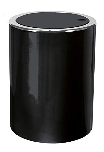 Kleine Wolke Cubic Kosmetikeimer, ABS, Schwarz, Eimer 1,5 L