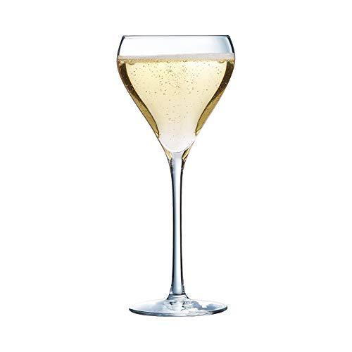 Arcoroc ARC H8466 Brio Lot de 6 flûtes à champagne Verre Transparent 95 ml, Verre, Transparent, 210ml